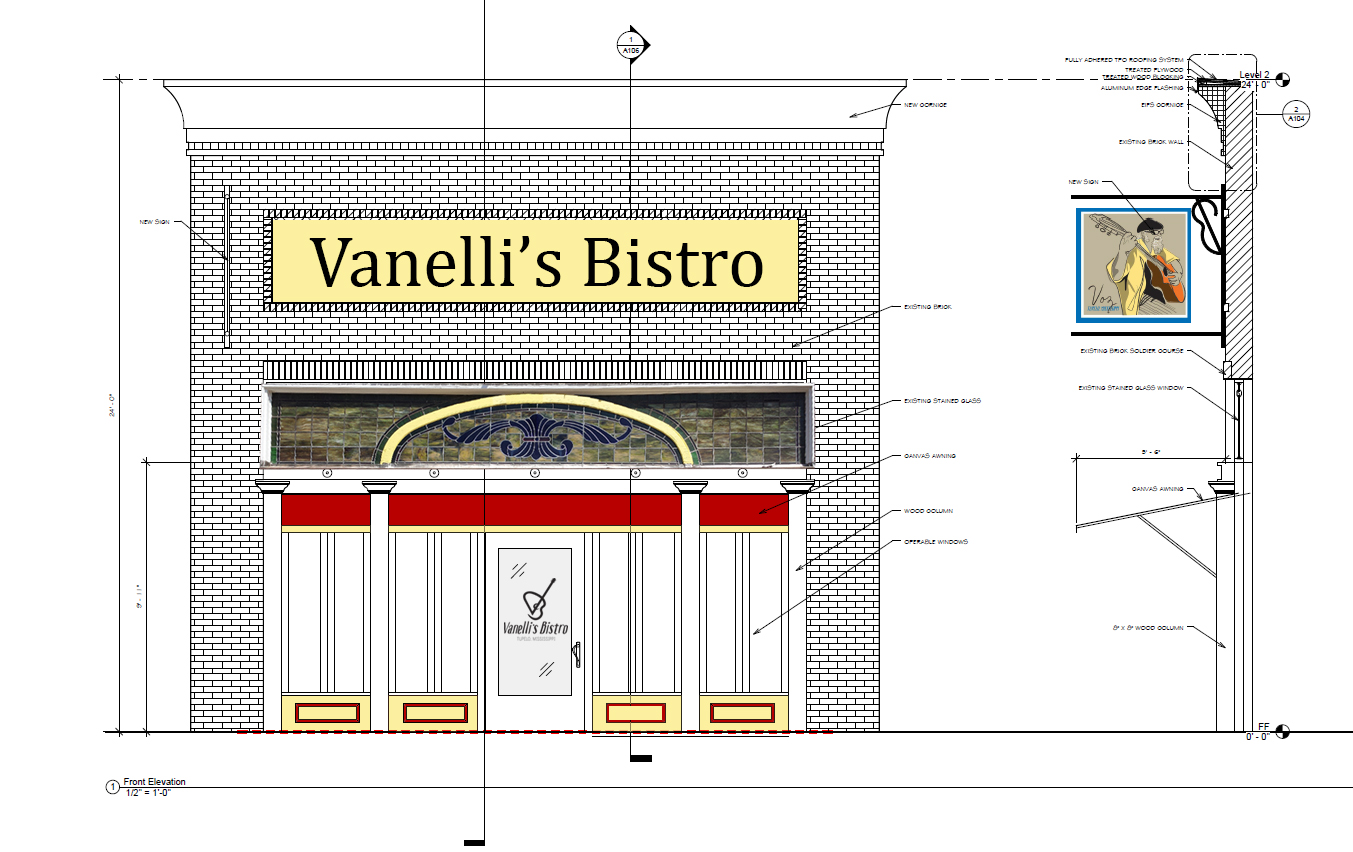 Vanellis Bistro Front Mock Up