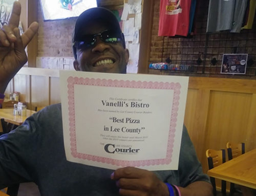 Thank you Lee County for Voting Vanelli's Bistro Best Pizza!